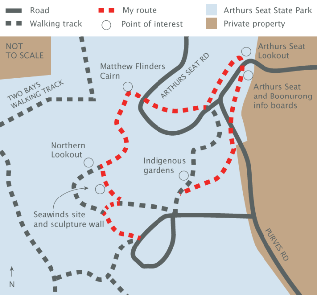 Arthurs Seat circuit walk map