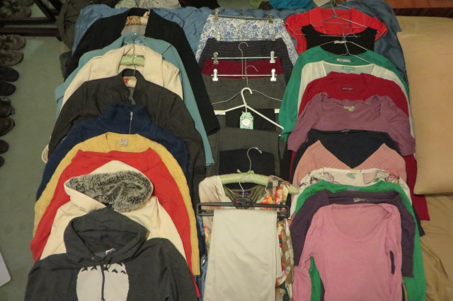 The clothes in my winter wardrobe