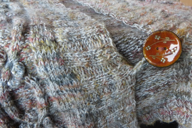 a hand dyed knitted vest