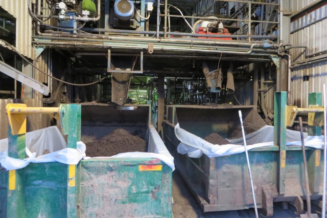 Solid waste collected for fertiliser