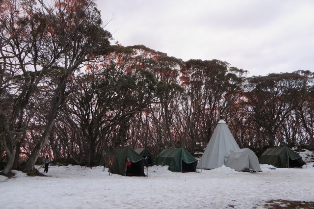 The Alpine camp at Mt Stirling