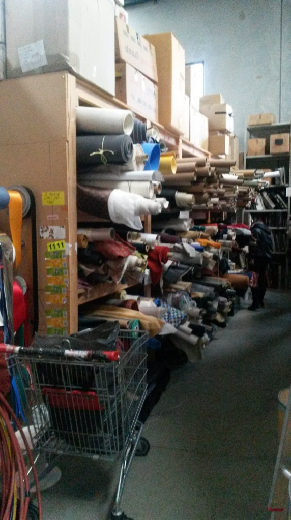 Fabric supplies at Resource Rescue in Bayswater