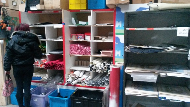Craft paper supplies at Resource Rescue
