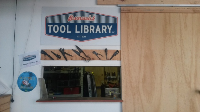The service desk of the Brunswick tool library