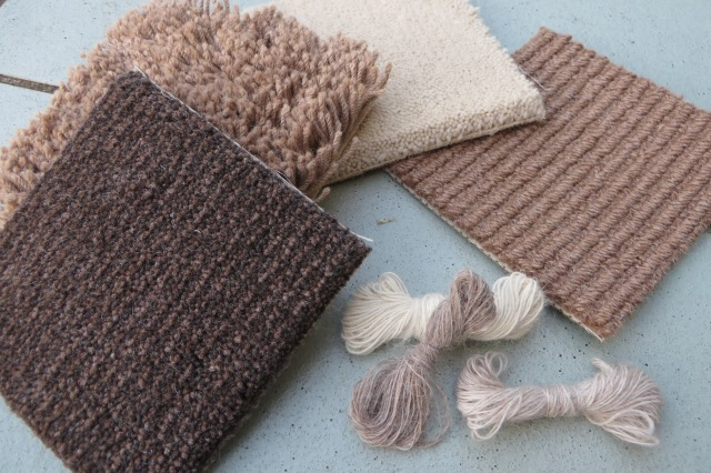 Carpet and fine yarn samples from Velieris