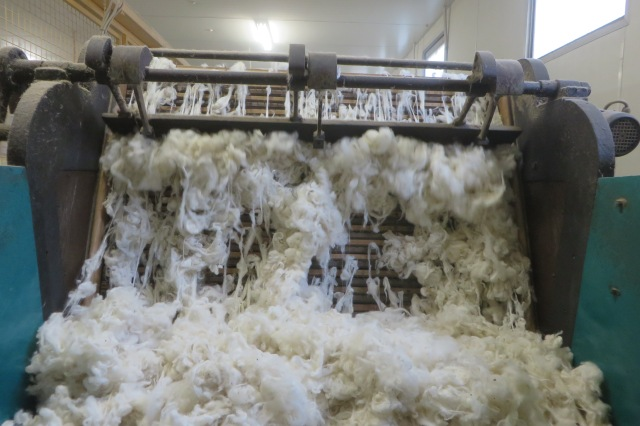 Entering the combing machine