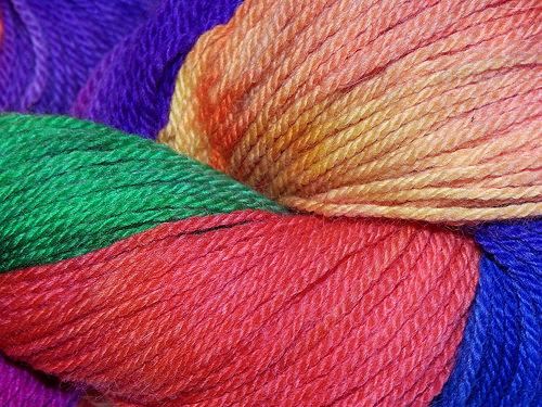 Merino and angora yarn