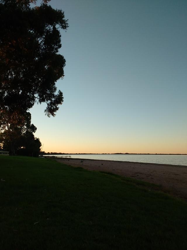 Lake Boga at sunset