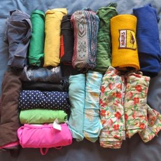 Yoga gear, swimming gear, sleepwear, pashmina, sarong, football scarf and art smock.