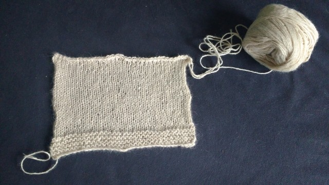 Knitted second swatch
